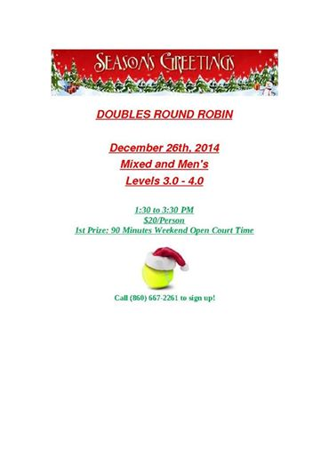 holiday doubles round robin